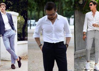 áo sơ mi trắng cho nam