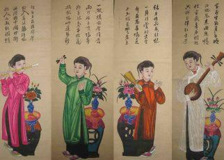 Văn hóa treo tranh trang trí trong ngày Tết của ông bà xưa